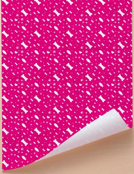 Geschenkpapier - Tierwelt - Magenta-Weiß, 68 cm x 98 cm, GP0001E ab 100 Stück