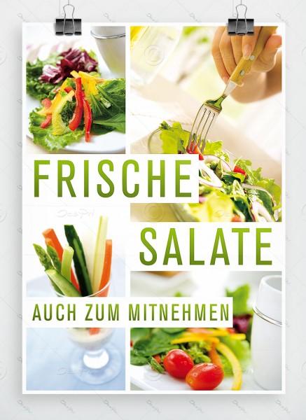 Frische Salate auch zum Mitnehmen - Werbeplakat, DIN A1, P0038