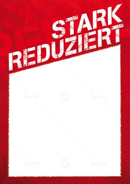 Preisschilder - Stark Reduziert, mit Textfeld, F0013, Rot, 25er Set