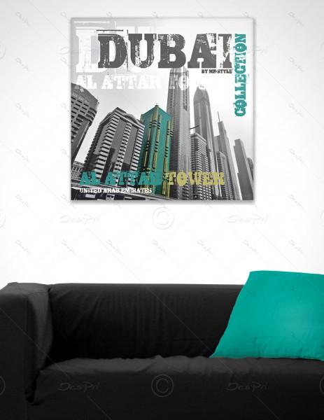 Al Attar Tower, Dubai, Leinwandbild - World Cities by MP-STYLE, LB-FP-0005