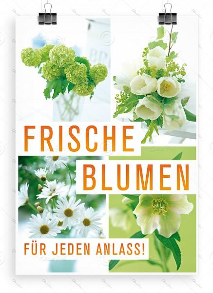 Frische Blumen fuer jeden Anlass! Werbeplakat by Despri, DIN A1, P0088