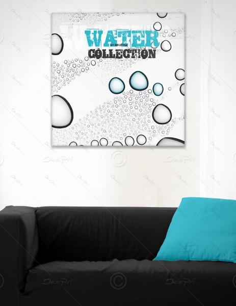 Leinwandbild - Wassertropfen, Water Collection by MP-STYLE, Keilrahmen, LB0007