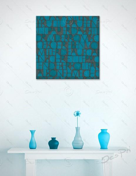 Leinwandbild - Schriftteppich, art collection, mit Keilrahmen, LB-FP-0009B