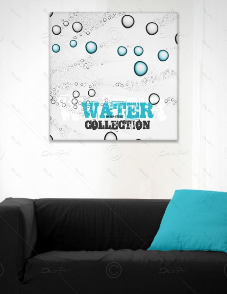 Leinwandbild - Wassertropfen, Water Collection by MP-STYLE, Keilrahmen, LB0008