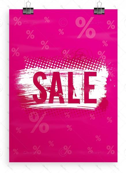 SALE - Plakat - Poster - Werbeplakat, Pink, P0004C, DIN A1