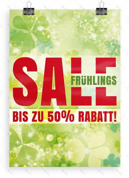 Werbeposter - Frühlings SALE - bis zu 50% Rabatt! Werbeplakat, DIN A1, P0090D