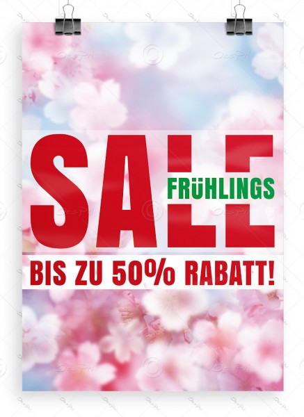 Despri Werbeposter - Frühlings SALE - bis zu 50% Rabatt! DIN A1, P0090C