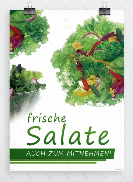 Frische Salate auch zum Mitnehmen, Werbeplakat, DIN A1, P0067