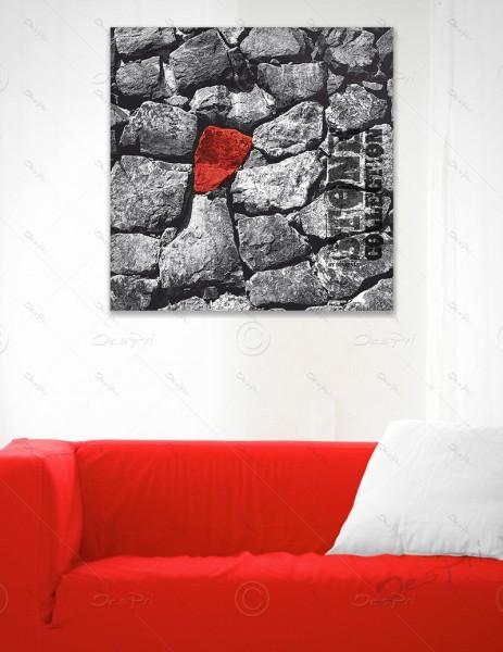 Leinwandbild - Red Stone, Stone collection by MP-STYLE, Keilrahmen, LB-FP-0004