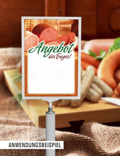 25x Preisschilder mit Textfeld- Angebot des Tages! Metzgerei, F0015