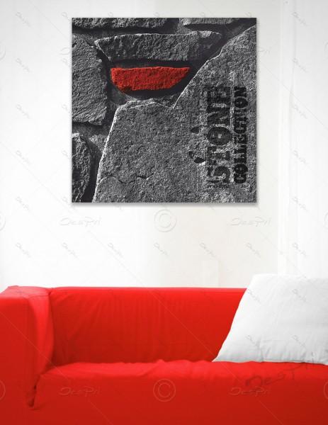 Leinwandbild - Red Stone, Stone collection by MP-STYLE, Keilrahmen, LB-FP-0003
