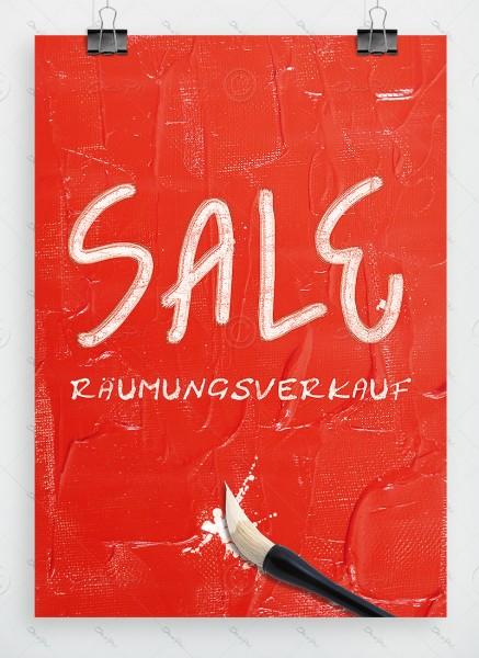Werbeplakat - SALE - Räumungsverkauf, Ölfarben Imitation, A1, P0017