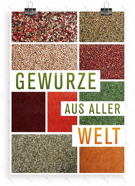 Gewürze aus aller Welt - Werbeplakat, Poster, DIN A1, P0064