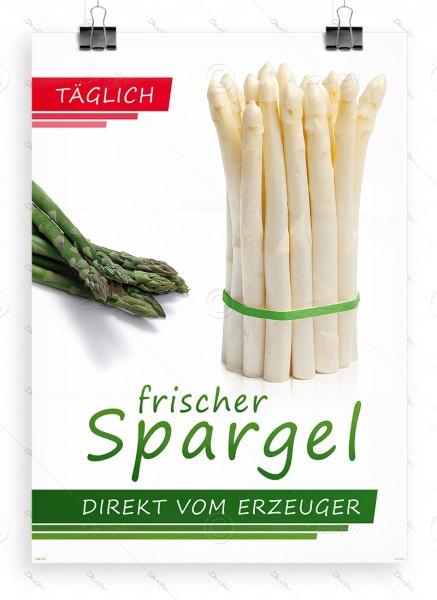 Täglich frischer Spargel direkt vom Erzeuger, Plakat  by Despri, DIN A1, P0095