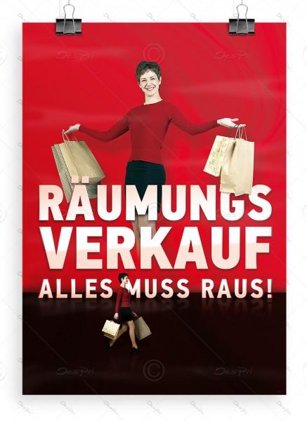 Werbeplakat - Räumungsverkauf, Alles muss raus! - Poster, DIN A1, P0030