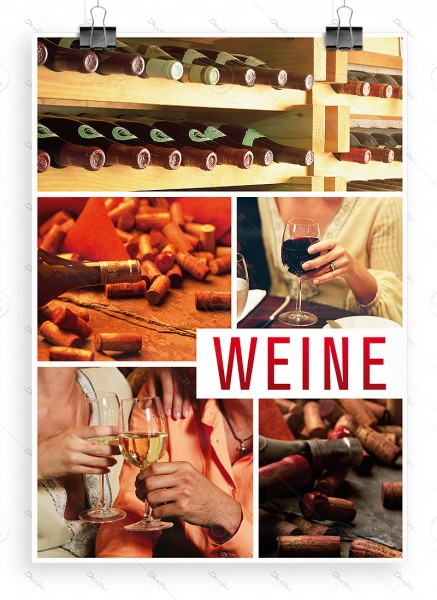 """Despri Werbeplakat """"Weine"""", Poster - P0018, DIN A1"""