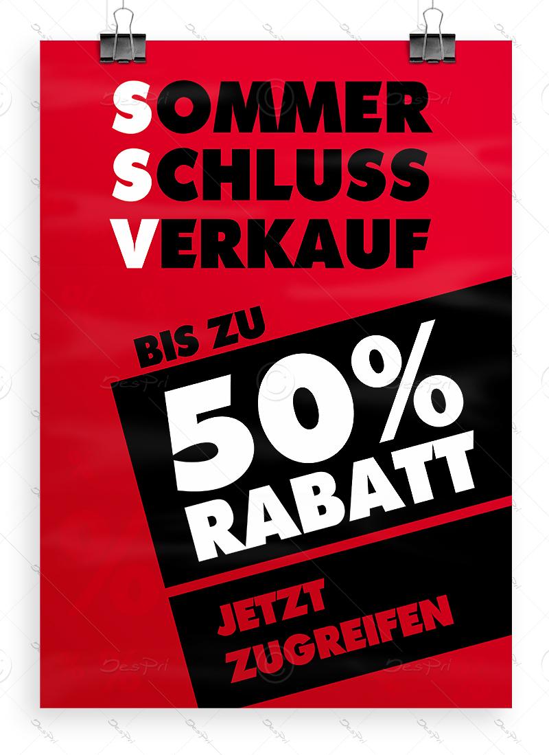SSV WSV Sonderaktion Plakat 42 x 120 cm Stark reduziert Werbeplakat